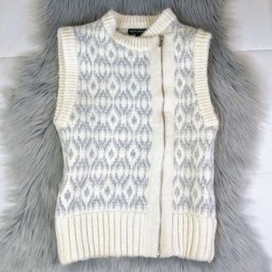 Banana Republic Italian Yarn Zip Up Vest